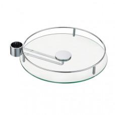 Полка боковая 350мм стекло+релинг хром STBS350