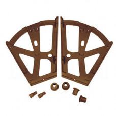 Кассеты обувные (двойные) коричневая