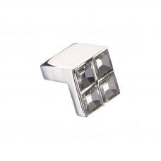 Ручка-кнопка с кристаллами CRL01 хром