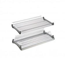 Сушилка для посуды 2-х ур. 450мм с рамой и поддоном VARIANT3 хром