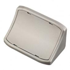 GTV Уголок пластиковый двойной 695 серебро, PM-NAR1004-695