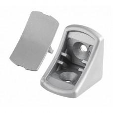 GTV Уголок пластиковый одинарный 645 светло-серый, PM-NAR1003-645