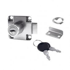 SETE Замок мебельный,с 2-мя прямыми ключами LS-138-DK