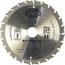 СМТ Диск пильный 190х2.2/1.4х30 Z24 ATB(без инд. упаковки) по дереву К19024M-Х10
