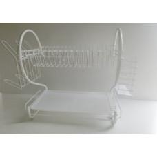 Сушилка д\посуды настольная 2-х ярусная (белая)