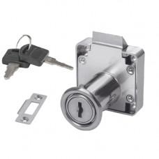 SETE Замок мебельный с защелкой с 2-мя ключами LZ-338/22-DK