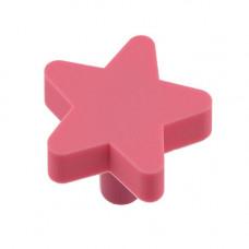 GTV Ручка мебельная UM-STAR звезда, розовый