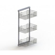 Корзина 3-х уровневая на рамке 285х475х1015, хром
