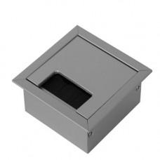 SETE Кабель-канал квадратный 80х80мм, матовый хром, PK-8080-05