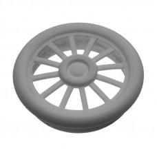 Вентиляционная заглушка круглая d=40мм (серая)