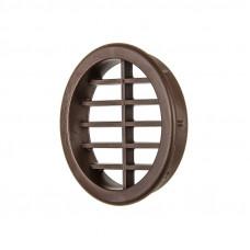 Вентиляционная заглушка круглая d=40мм (коричневая)