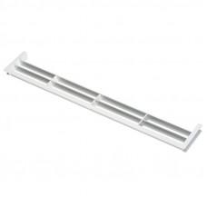 Решетка вент. для цоколя пластик белая 390*65мм